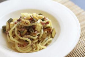 menu pasta speck e zucchine 26-27 Maggio lago delle rose