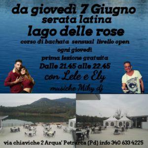 Corso di ballo latino al Lago delle Rose ogni giovedì sera estivo
