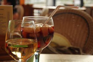 Tadizionale caraffa di sangria spagnola aperitivo