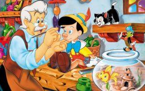 Geppetto e Pinocchio disney