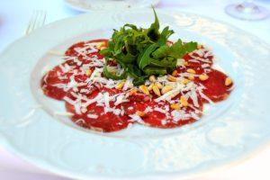 menu carpaccio pranzo o cena al lago delle rose